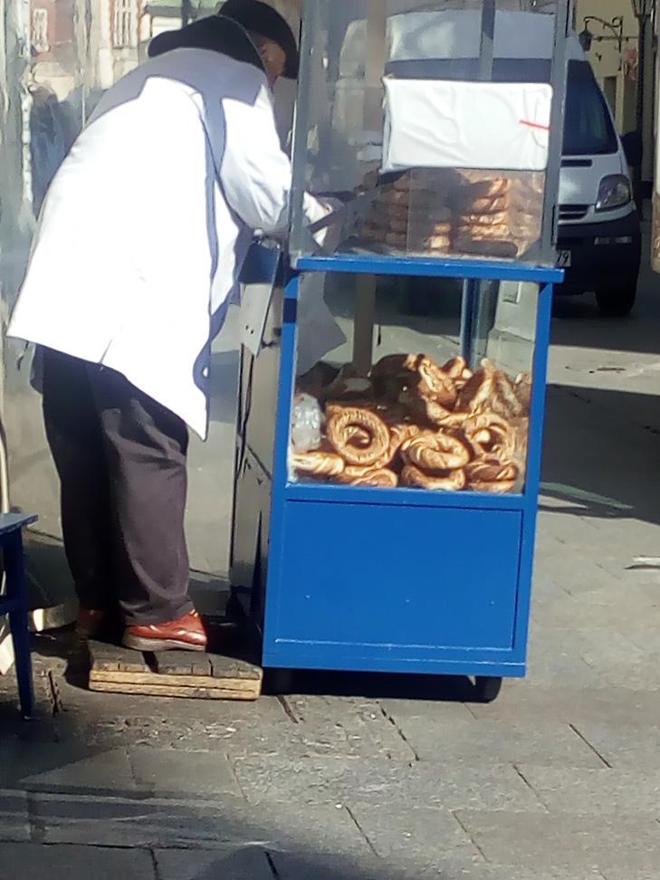 Obwarzanek. Puestos de pan